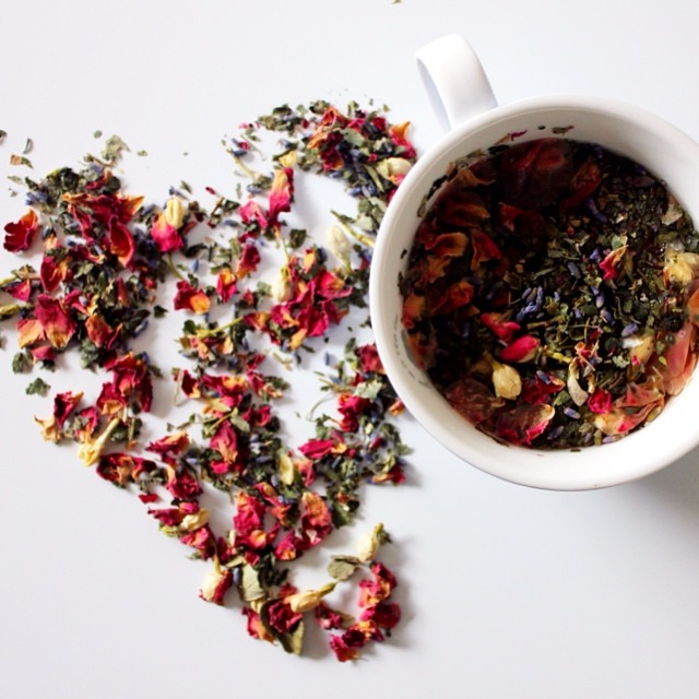 A cup of caffeine-free, floral infused tea to send you to sleepytown