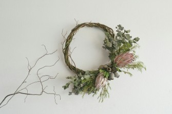Asymmetrical native wreath