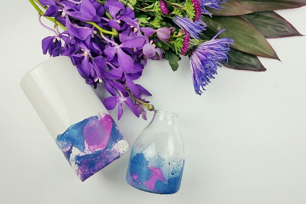 diy spray paint dipped vase tutorial how to