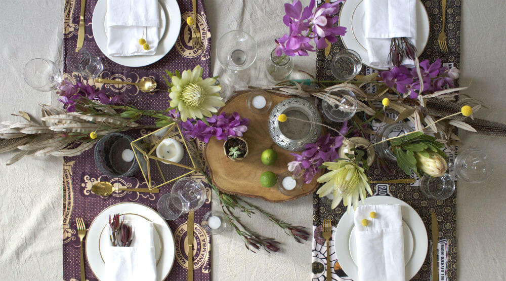 Five Minute Flower Challenge Tropical Table Styling how to