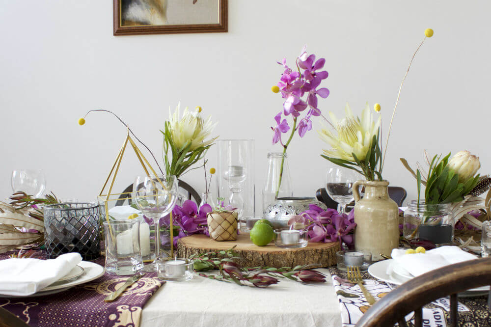 Five Minute Flower Challenge Tropical Table Styling