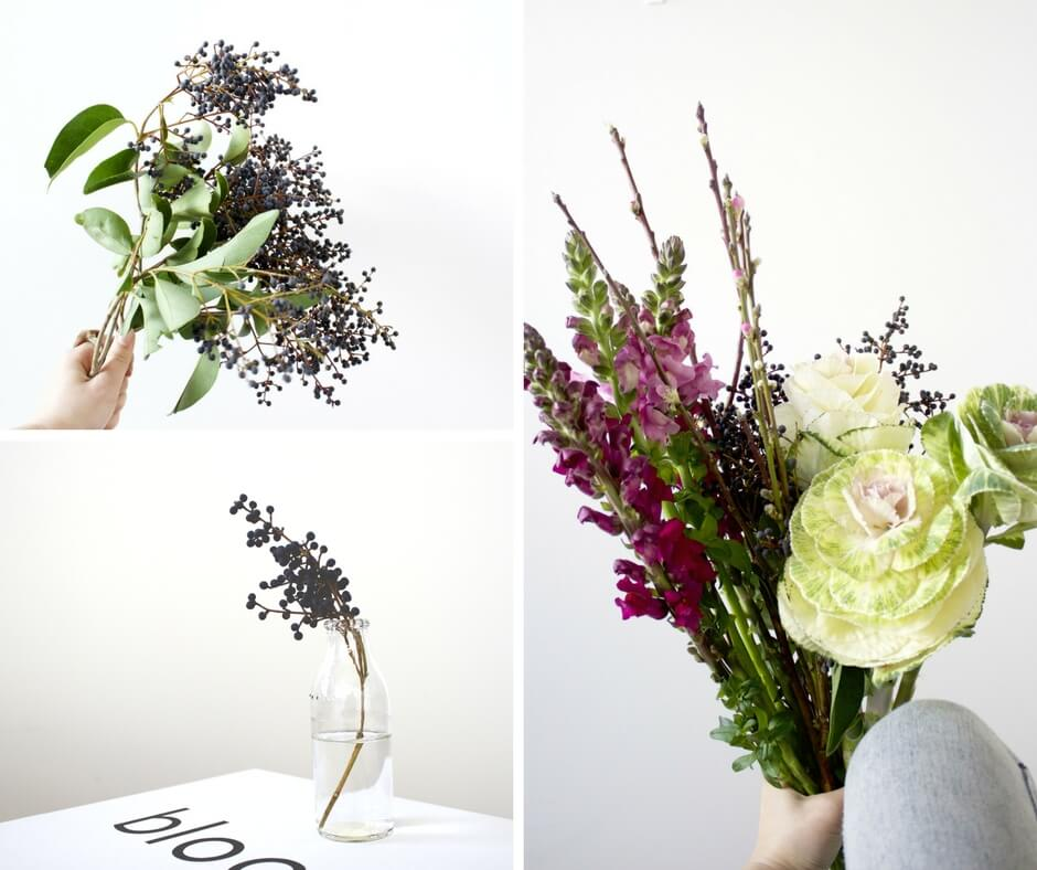 Kale and Snapdragon Spring Winter Arrangement How To