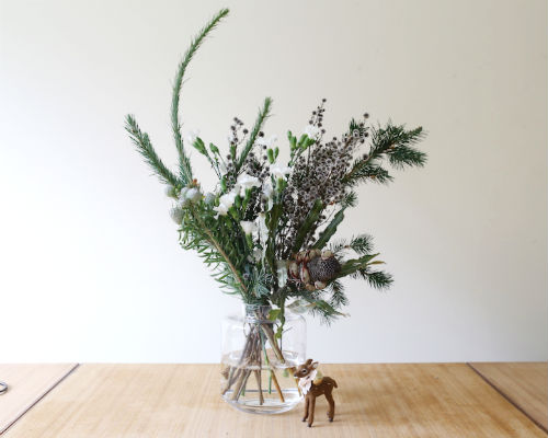christmas vase arrangement instructions