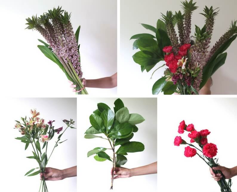 tropical flower arrangement what you'll need