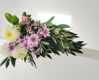 Pastel Perfect Disbud Chrysanthemum Flower Arrangement