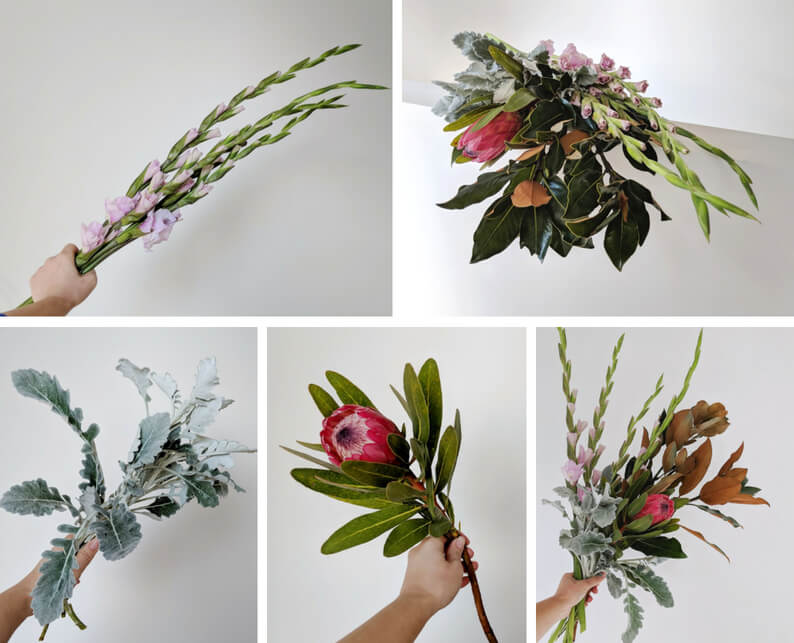 How To Gladioli and Protea Arrangement - What You'll Need