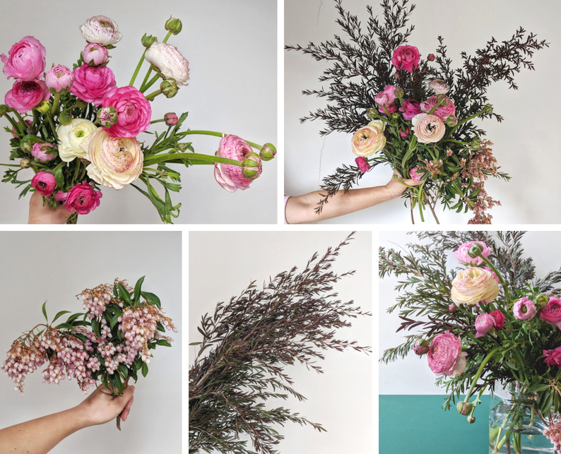 ranunculus arrangement tutorial - what you need