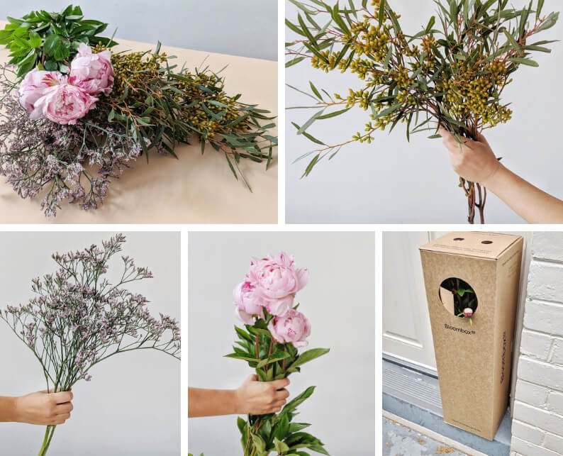 Easy Peony Flower Arrangement Flower and Foliage you'll need