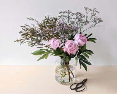 Easy Peony Flower Arrangement Tutorial