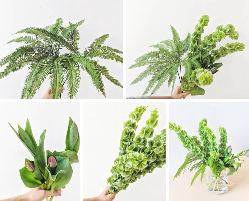 St Patrick's Day Flower Arrangement - what you'll need