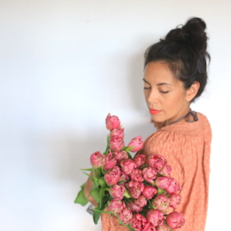 Coral Double Tulips a gorgeous way to add Pantone Colour of The Year to your interior
