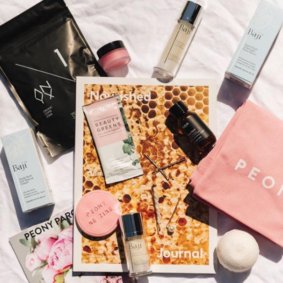 Peony Parcel Beauty Gift Subscription Box Delivered in Sydney and Melbourne