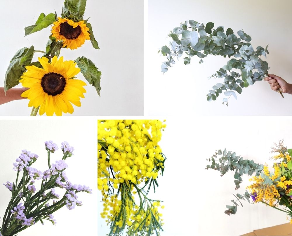 Sunflower arrangement what you'll need