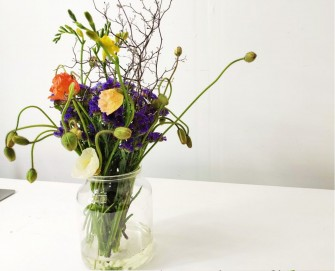 Winter Poppy Flower Arrangement